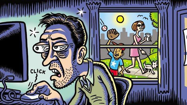 Afhængighed af spil, dating, chat, sex, TV m.v.